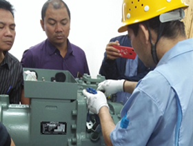 Training for Hitachi Chiller Series at Guangzhou Co Ltd, China