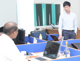 Product training on Chillers presented by Mr.Allan Lim (Sales Manager of Asia Pacific) at Keats Green Office