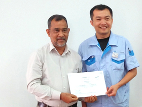 Certification for completing Training for Hitachi Chiller Series at Guangzhou Co Ltd, China